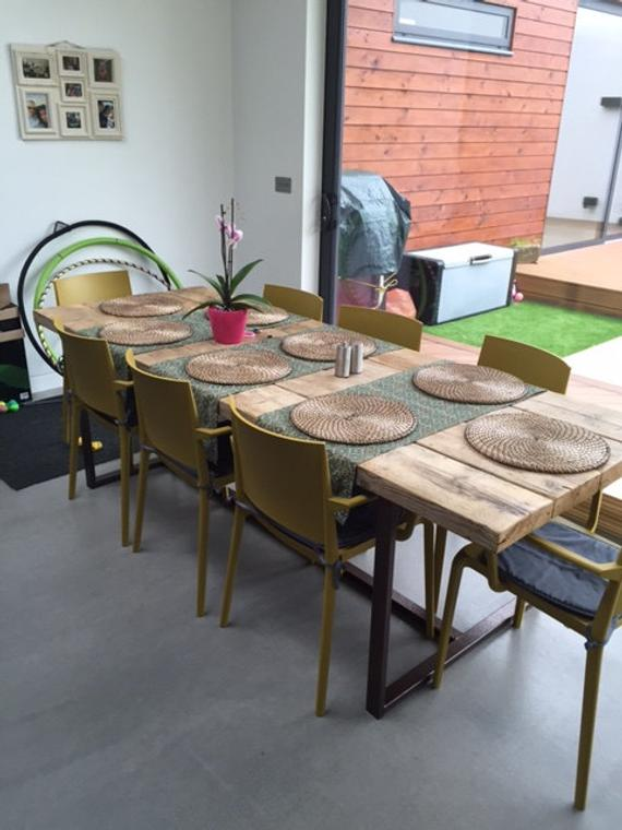 Reclaimed Industrial Chic 8-10 Seater Dining Table Copper | Et