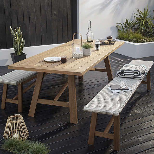 John Lewis & Partners Stockholm 8-10 Seater Garden Dining Table .