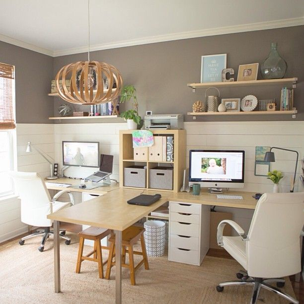 Be More Productive with 25 Wonderful Two Person Desk Design for .