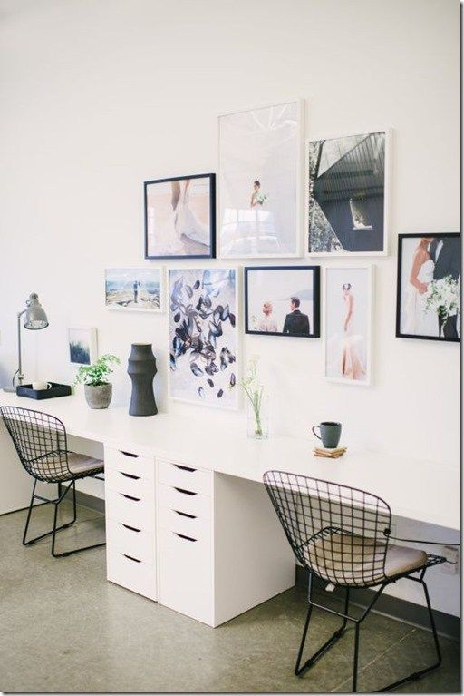 2 Person Desk For Small Space | Home office furniture, Home office .