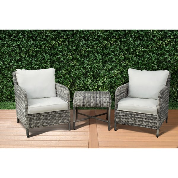 Shop Vivo 3-Piece Modern Patio Conversation Set by Westin Outdoor .