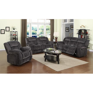 Sunset Trading Madison 3 Piece Reclining Living Room S