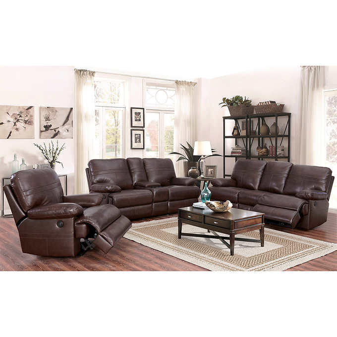 Catterton 3-piece Leather Power Reclining S
