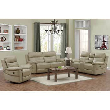 Rockhill 3-piece Top Grain Leather Power-Reclining Living Room S