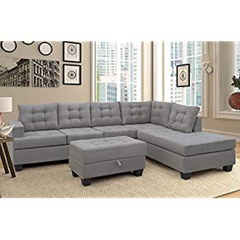 Amazon.com: Harper & Bright Designs Sectional Sofa 3 Piece Sofa .