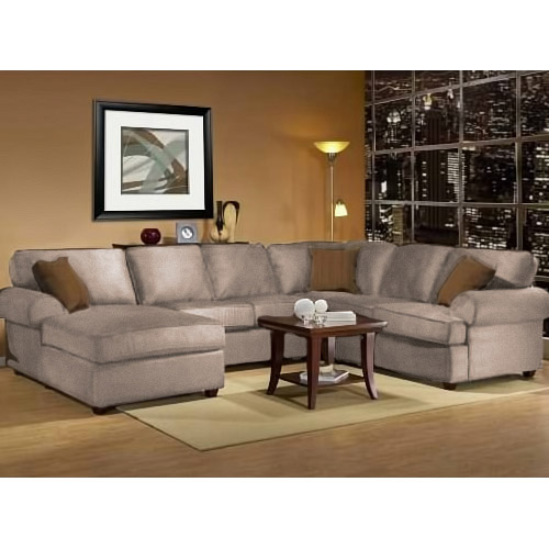 Awesome Three Piece Sectional Couch Klaussner Pantego 3 Sofa With .
