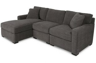 Furniture Radley 3-Piece Fabric Chaise Sectional Sofa, Created for .