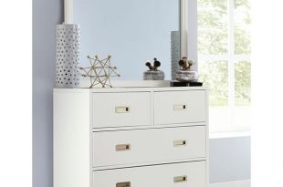 Shop Hillsdale Tinley Park 4 Drawer Chest & Mirror, Soft White .