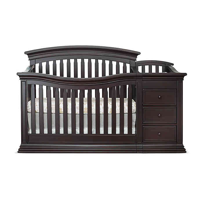 Sorelle Sedona 4-in-1 Convertible Crib and Changer in Espresso .