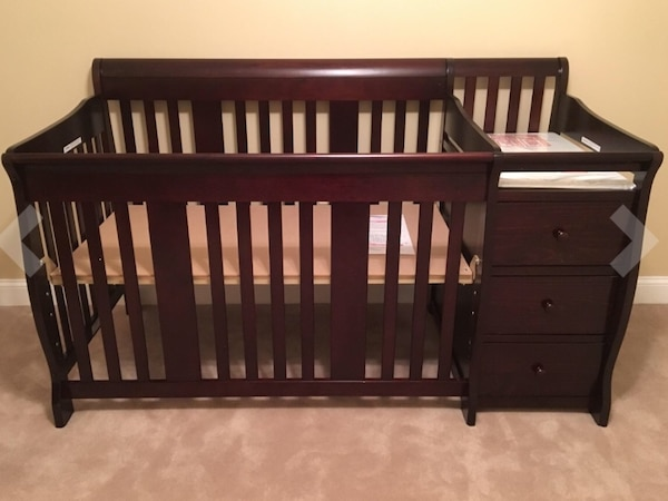 Sold *price negotiable* 4 in 1 crib, changing table and bed in .