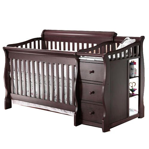 Amazon.com : Sorelle Princeton 4-in-1 Convertible Crib & Changer .