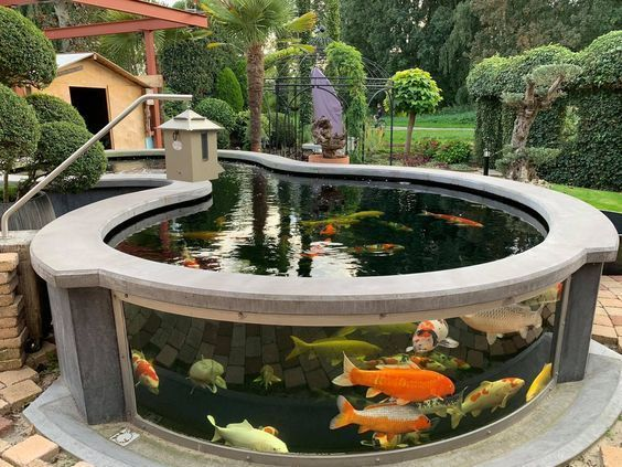 Above Ground Fish Pond Designs - lanzhome.com on Above Ground Ponds Ideas id=31669