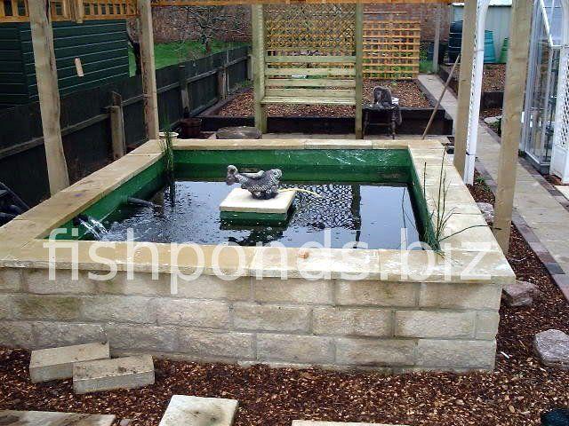 Above Ground Pond Designs | Building a Koi pond - finished pond .