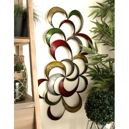 Decmode - Large Multi-Colored Abstract Metal Wall Decor .
