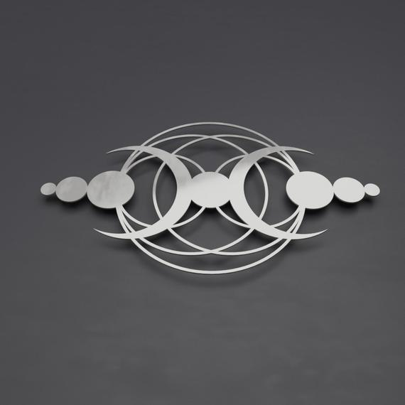 Crop Circle Modern Abstract Metal Wall Art Sculpture Large | Et
