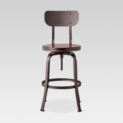 Dakota Adjustable Wood Seat Barstool - Threshold™ : Targ