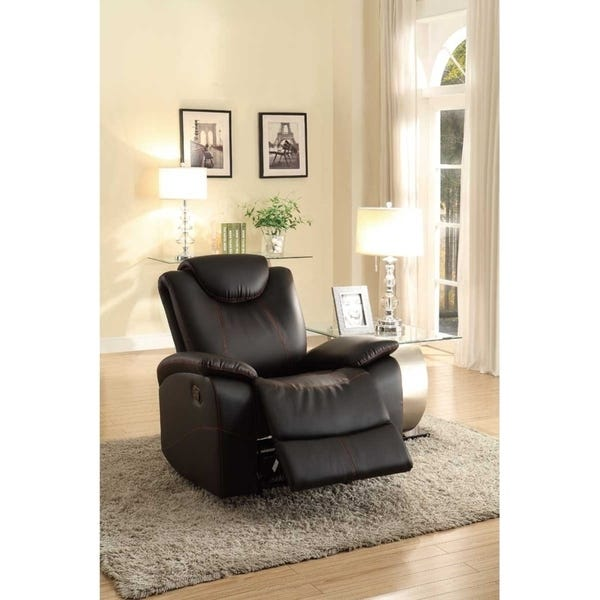 Shop Glider Recliner Chair With Adjustable Headrest, Black .