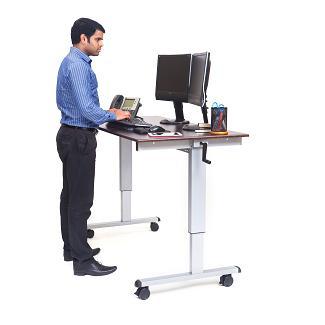 adjustable height computer desk