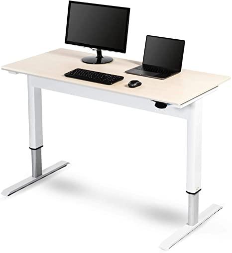 "Amazon.com: Pneumatic Adjustable Height Standing Desk (48"", White ."