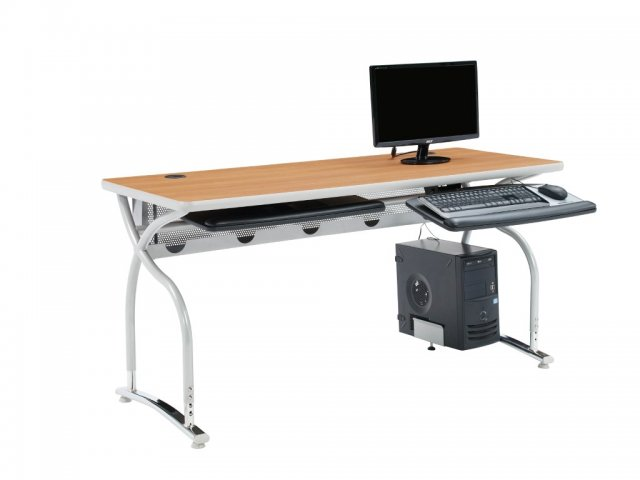 """Illustrations V2 Adjustable Height Computer Table 72x24"""", Computer ."""