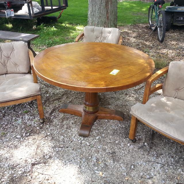 Find more Drexel Heritage Oak Adjustable Height Round Dining Table .