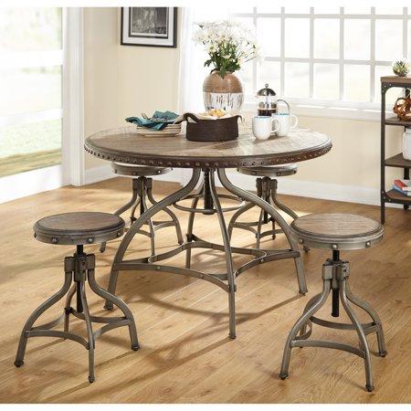 Decker 5 Piece Adjustable Height Dining Table Set - Walmart.com .