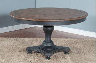 Bourbon County Round Dining Table w/ Adjustable Height - Shop for .