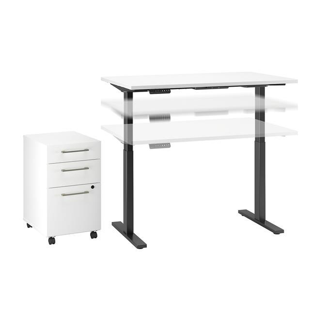 Bush Business Move 60 Series 48x24 Height Adjustable Standing Desk .