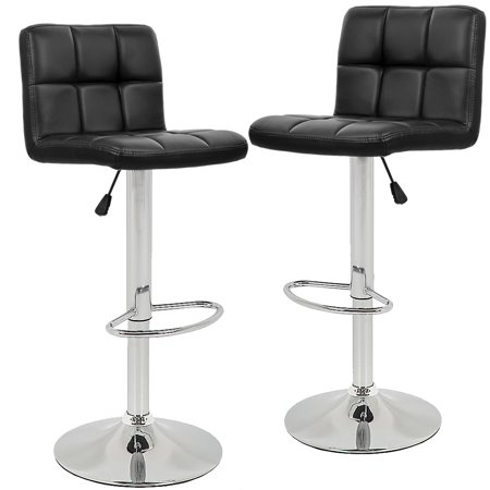 Bar Stools Barstools Swivel Stool Height Adjustable PU Leather .