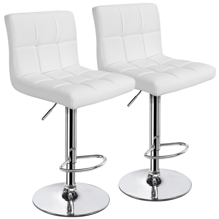 Topeakmart Set of 2 Adjustable Bar Stools Square Back Counter .