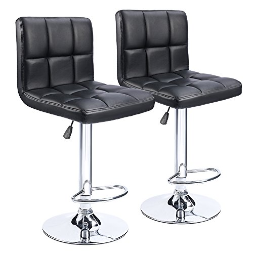 Amazon.com: Homall Modern PU Leather Adjustable Swivel Barstools .