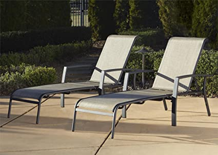 Amazon.com: Cosco Outdoor Adjustable Aluminum Chaise Lounge Chair .