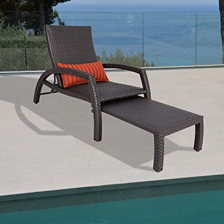 Amazon.com: Ulax Furniture Outdoor Wicker Convertible Chaise .