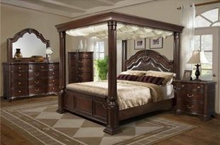 Elements International Tabasco King Canopy Bed (With images .