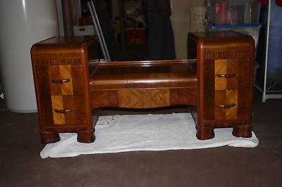 Antique Art Deco Full Bedroom Furniture Set -- Antique Price Guide .