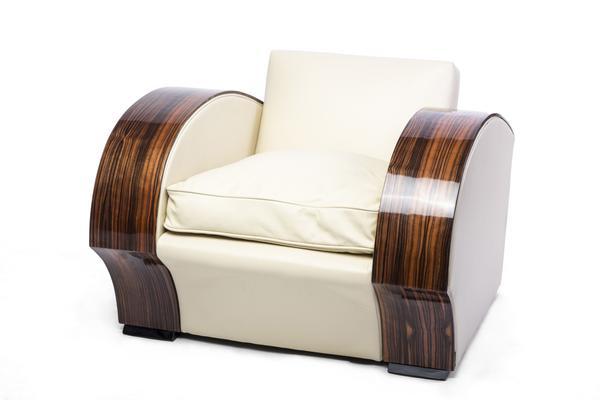 Art Deco South African Macassar Club Chair / Armchair – Le Deco Sty