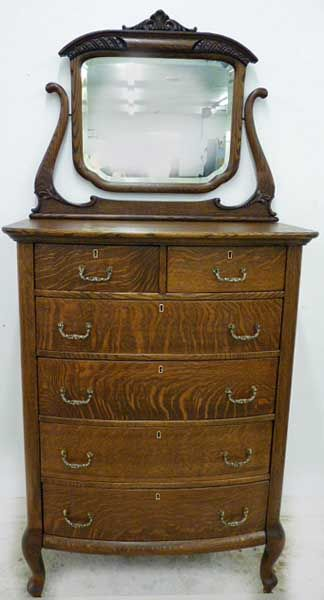 Early 1900's antique oak chest of drawers. To go with my antique .
