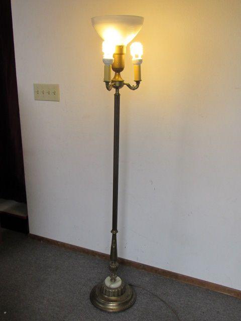 Antique Floor Lamps With Glass Shades | Floor lamp, Antique floor .