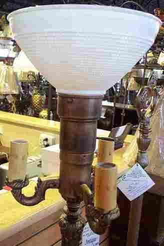 Antique Floor Lamp Bowl Shades: 3 Light Floor Lamps - Cabtivi