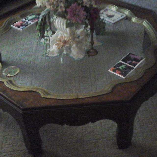 Best Antique Glass Top Coffee Table for sale in Oshkosh, Wisconsin .