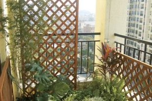 Apartment Balcony Privacy Screen | Le Zai Le Zai Gardening Company .