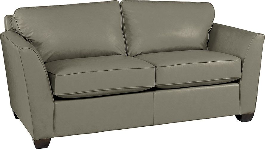LaZBoy Metro Apartment Size Leather Sofa in Grey (EL990954 .