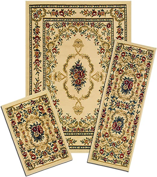 Amazon.com: Capri Collection 3-Piece Area Rug Set: Area Rug with .