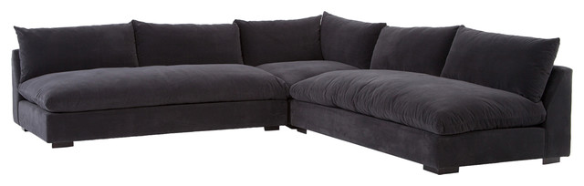 Armless Sectional Sofa