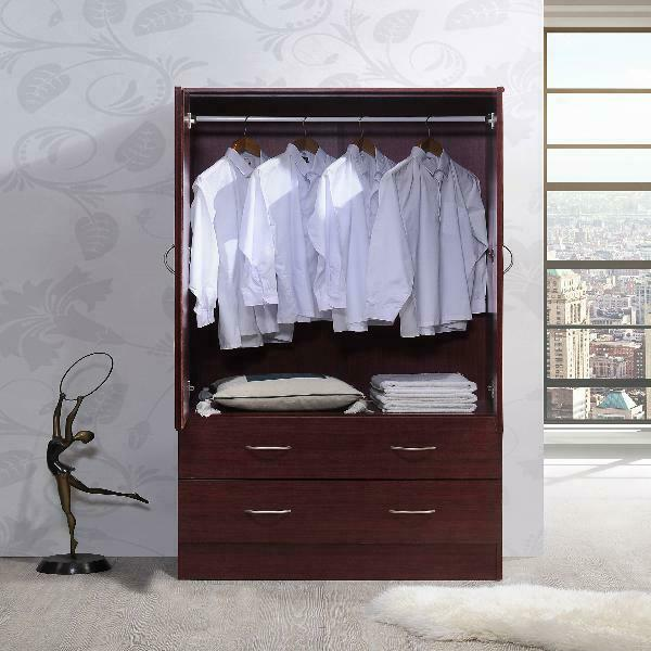 Wardrobe Armoire Storage Cabinet Closet Cupboard Bedroom Wood .