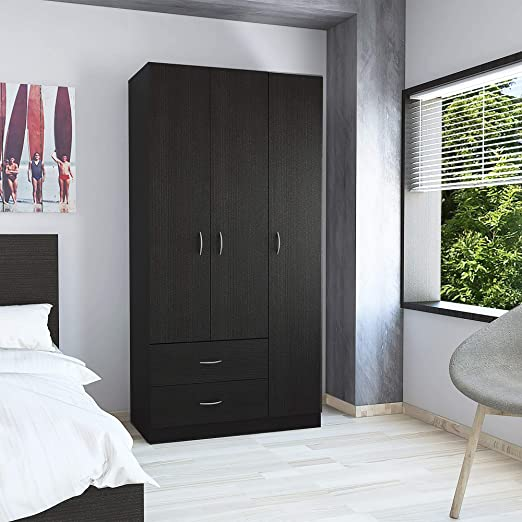 Amazon.com: TUHOME Austral Collection 3 Door Armoire/Closet .