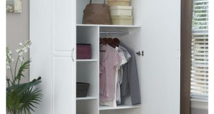 Shop SystemBuild White Kendall 48 inch Wardrobe Storage Cabinet .