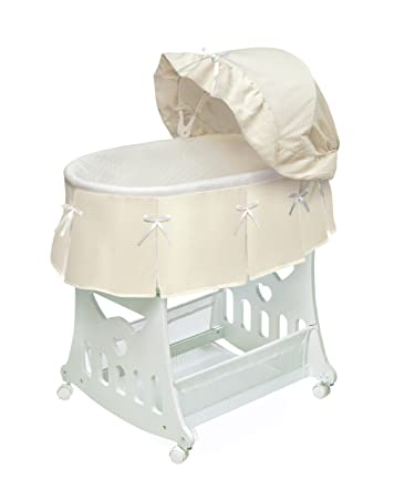 Amazon.com : Portable Rocking Baby Bassinet with Toybox Base .