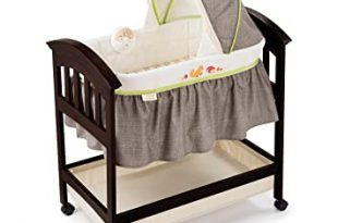 Amazon.com : Summer Infant Classic Comfort Wood Bassinet, Fox and .