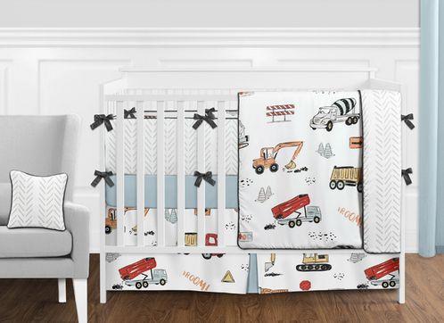 Construction Truck Baby Boy Nursery Crib Bedding Set with Bumper .